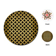 CIR3 BK MARBLE GOLD Playing Cards (Round)  by trendistuff