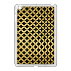 Circles3 Black Marble & Gold Brushed Metal Apple Ipad Mini Case (white) by trendistuff