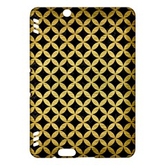 Circles3 Black Marble & Gold Brushed Metal Kindle Fire Hdx Hardshell Case by trendistuff