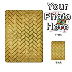 Brick2 Black Marble & Gold Brushed Metal (r) Multi Purpose Cards (rectangle) by trendistuff