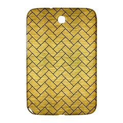 Brick2 Black Marble & Gold Brushed Metal (r) Samsung Galaxy Note 8 0 N5100 Hardshell Case  by trendistuff