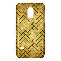Brick2 Black Marble & Gold Brushed Metal (r) Samsung Galaxy S5 Mini Hardshell Case  by trendistuff