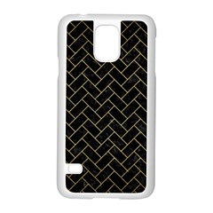 BRK2 BK MARBLE GOLD Samsung Galaxy S5 Case (White) by trendistuff