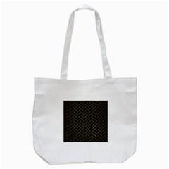 Brick2 Black Marble & Gold Brushed Metal Tote Bag (white) by trendistuff