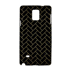 Brick2 Black Marble & Gold Brushed Metal Samsung Galaxy Note 4 Hardshell Case by trendistuff