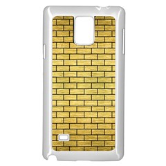 Brick1 Black Marble & Gold Brushed Metal (r) Samsung Galaxy Note 4 Case (white) by trendistuff