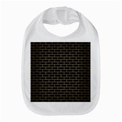 Brick1 Black Marble & Gold Brushed Metal Bib by trendistuff