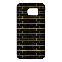 Brick1 Black Marble & Gold Brushed Metal Samsung Galaxy S6 Hardshell Case  by trendistuff