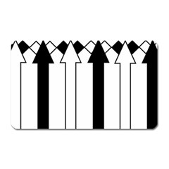 Funny Black And White Stripes Diamonds Arrows Magnet (rectangular) by yoursparklingshop