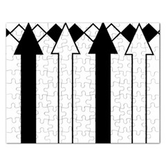 Funny Black And White Stripes Diamonds Arrows Rectangular Jigsaw Puzzl by yoursparklingshop