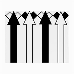 Funny Black And White Stripes Diamonds Arrows Small Glasses Cloth by yoursparklingshop