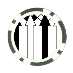 Funny Black And White Stripes Diamonds Arrows Poker Chip Card Guards by yoursparklingshop