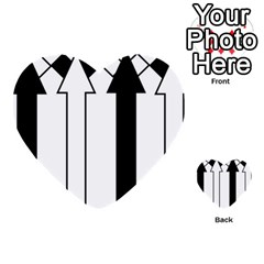 Funny Black And White Stripes Diamonds Arrows Multi Purpose Cards (heart)  by yoursparklingshop