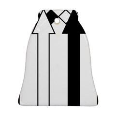 Funny Black And White Stripes Diamonds Arrows Bell Ornament (2 Sides) by yoursparklingshop
