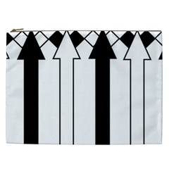 Funny Black And White Stripes Diamonds Arrows Cosmetic Bag (xxl)  by yoursparklingshop