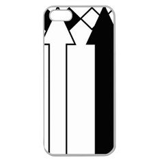 Funny Black And White Stripes Diamonds Arrows Apple Seamless Iphone 5 Case (clear) by yoursparklingshop