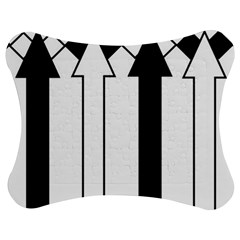 Funny Black and White Stripes Diamonds Arrows Jigsaw Puzzle Photo Stand (Bow) by yoursparklingshop