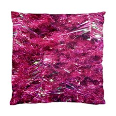 Festive Hot Pink Glitter Merry Christmas Tree  Standard Cushion Case (two Sides) by yoursparklingshop