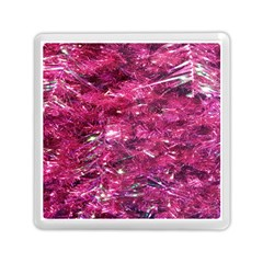 Festive Hot Pink Glitter Merry Christmas Tree  Memory Card Reader (square)  by yoursparklingshop