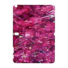 Festive Hot Pink Glitter Merry Christmas Tree  Samsung Galaxy Note 10.1 (P600) Hardshell Case by yoursparklingshop
