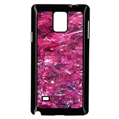 Festive Hot Pink Glitter Merry Christmas Tree  Samsung Galaxy Note 4 Case (black) by yoursparklingshop