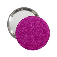 Metallic Pink Glitter Texture 2 25  Handbag Mirrors by yoursparklingshop