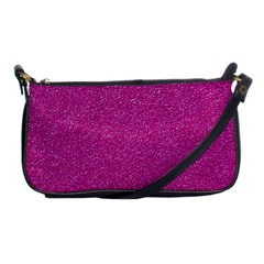 Metallic Pink Glitter Texture Shoulder Clutch Bags by yoursparklingshop
