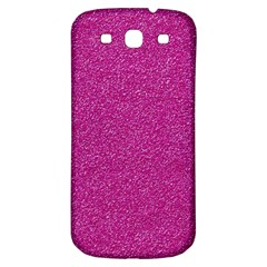 Metallic Pink Glitter Texture Samsung Galaxy S3 S Iii Classic Hardshell Back Case by yoursparklingshop
