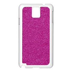 Metallic Pink Glitter Texture Samsung Galaxy Note 3 N9005 Case (white) by yoursparklingshop