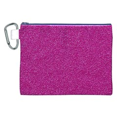 Metallic Pink Glitter Texture Canvas Cosmetic Bag (xxl)  by yoursparklingshop