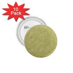 Festive White Gold Glitter Texture 1 75  Buttons (10 Pack) by yoursparklingshop
