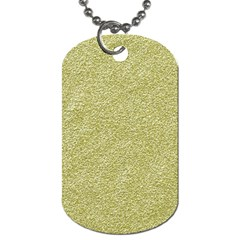 Festive White Gold Glitter Texture Dog Tag (one Side) by yoursparklingshop