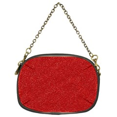 Festive Red Glitter Texture Chain Purses (one Side)  by yoursparklingshop