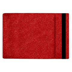 Festive Red Glitter Texture Ipad Air Flip by yoursparklingshop