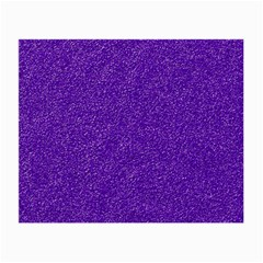 Festive Purple Glitter Texture Small Glasses Cloth by yoursparklingshop
