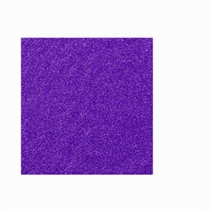Festive Purple Glitter Texture Small Garden Flag (two Sides) by yoursparklingshop