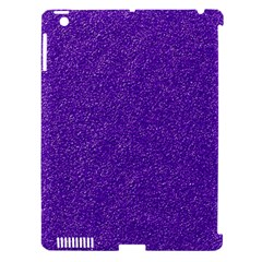 Festive Purple Glitter Texture Apple Ipad 3/4 Hardshell Case (compatible With Smart Cover) by yoursparklingshop