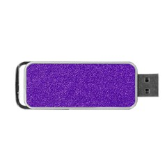 Festive Purple Glitter Texture Portable Usb Flash (two Sides) by yoursparklingshop