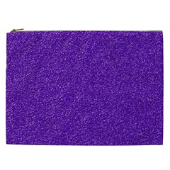 Festive Purple Glitter Texture Cosmetic Bag (xxl)  by yoursparklingshop