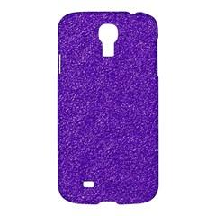 Festive Purple Glitter Texture Samsung Galaxy S4 I9500/i9505 Hardshell Case by yoursparklingshop