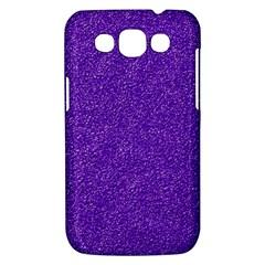 Festive Purple Glitter Texture Samsung Galaxy Win I8550 Hardshell Case  by yoursparklingshop