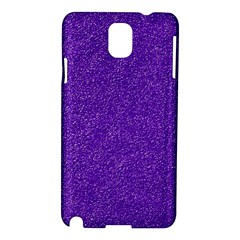 Festive Purple Glitter Texture Samsung Galaxy Note 3 N9005 Hardshell Case by yoursparklingshop