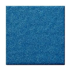 Festive Blue Glitter Texture Tile Coasters by yoursparklingshop