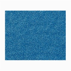 Festive Blue Glitter Texture Small Glasses Cloth by yoursparklingshop