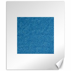 Festive Blue Glitter Texture Canvas 20  X 24   by yoursparklingshop