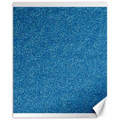 Festive Blue Glitter Texture Canvas 11  X 14   by yoursparklingshop