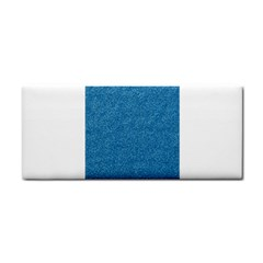 Festive Blue Glitter Texture Hand Towel by yoursparklingshop