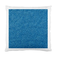 Festive Blue Glitter Texture Standard Cushion Case (one Side) by yoursparklingshop