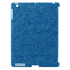 Festive Blue Glitter Texture Apple Ipad 3/4 Hardshell Case (compatible With Smart Cover) by yoursparklingshop