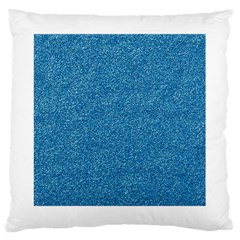 Festive Blue Glitter Texture Large Cushion Case (two Sides) by yoursparklingshop
